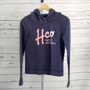 4/$25 Hollister blue long sleeve hooded sweatshirt